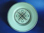 Susie Cooper Studio Pottery Green Glazed Plate - Abstract Pattern #618 c1933
